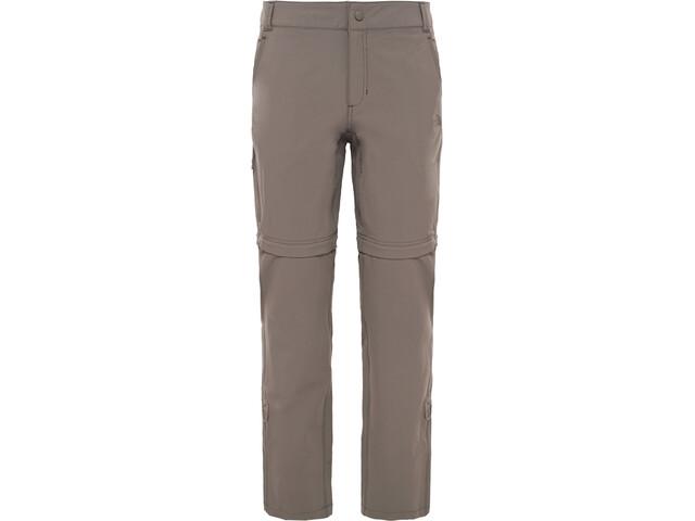 The North Face Exploration Pantalon convertible avec fermeture éclair Taille courte Femme, weimaraner brown
